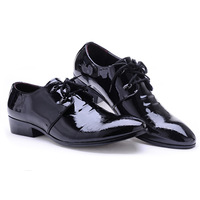 Free shipping 2013  Fashion Men Leather shoes black business shoes for men Lace Up Oxfords for men