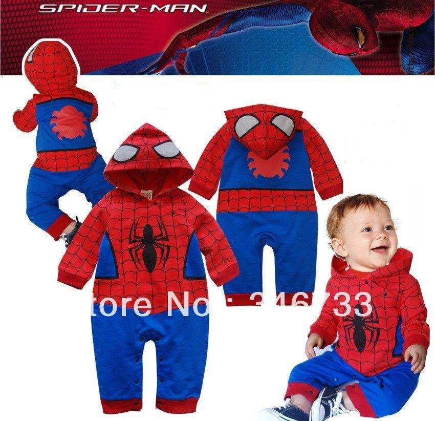 [해외]Baby Romper Spiderman Long Sleeve Fancy Dress Infa..