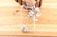For Millet 2 2s Mobile Phone Protective Case Wood Tassel Pendant Cat Rhinestone Xiaomi m2 Transparent Cover