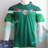 2014 World Cup New Mexico Green fooyball shirts Top Thai Quality  14 Mexico soccer jersey Free Shipping