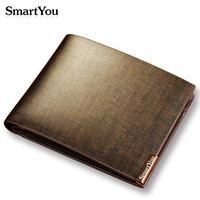 Free Shipping Men's wallet genuine leather short design cowhide men's wallet silicon carbide carteira de couro gift with box