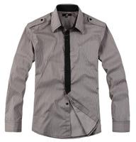 2013 male 100% cotton plus size plus size male oversized stripe long-sleeve shirt plus size shirt men