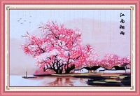 DIY Ribbon embroidery paintings set 45x60cm hand make ribbon embroidery paintings room decoration handcraft diy picture unfinish