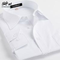 2014 men's clothing plus size white shirt casual male long-sleeve shirt white work wear business formal shirt