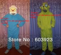 Free Shipping factory direct sale Winter cartoon thick fleece pajamas Cute Adventure Time with Finn Jack  pajamas Adult Pajamas
