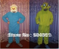 New Children Adult Fleece Lovely Adventure Time with Finn and Jack Pyjamas Pajamas Sleepsuit sleepwear Onesie