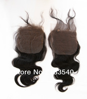 Queen Hair Products Free Shipping Brazilian Virgin Hair 4*4  Body Wave Lace Closure