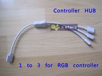 Best price ! 3pcs/lot, 1 to 3 ports for RGB Led Strip controller, RGB controller Splitter, RGB HUB/ Strip HUB