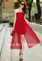 Sexy charm fashion one-piece dress tube top slim hip the trend of women
