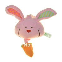 Baby music Bell Baby Toys Lathe hanging bell Pink Rabbit no power supply