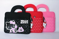 Cute lovely cartoon Hello kitty grip bag case for apple ipad air for ipad 2 3 4 5 KT handbag gripesack for ipad Free shipping