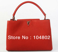 Hot Sale Original Leather Capucines MM Tote Luxury Original Leather Designer CapucinesTote Wholesale 1:1 Quality Brand handbag