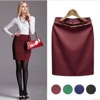 2014 Women's Skirt High Waisted skirt For Women Fitted Business Bodycon Pencil Skirt