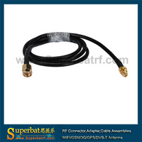 SMA male to SMA female cable assembly RG58 1m