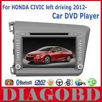 Android GPS for HONDA CIVIC left driving 2012- Car DVD Player with 3G GPS RDS radio bluetooth WIFI