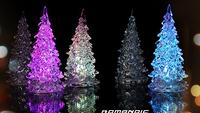 1pcs Free shipping Icy Crystal Color Changing Colorful mini led night light luminous Christmas  tree Decoration Light XMAS gift