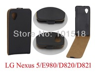 50pcs/lot free shiping New Flip leather  cover case for LG Google Nexus 5  ,Imitation of Korea