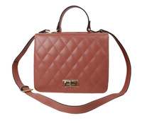 high quality pure leather lattice cross-body bags
