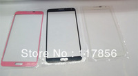 For samsung Galaxy note3 N9000 screen LCD touch Cover front glass lens Repair Parts black white gray  pink DHL free shipping