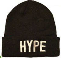 Whosale 100% Acrylic 2013 new design HYPE Winter Hats beanie caps skullies