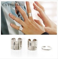 Free shipping New Arrive 2013  Hot Sale Metal Rings Fashion Women Hand Accessories Finger Rings Opening Rings 3pcs 1 set