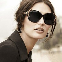 2014 Fashion New Woman Sunglasses Retro metal Carved Rose Sunglasses Box glasses yurt Wholesale Free Shipping
