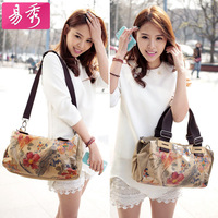 Vintage Canvas Women's Flower Handbag Shoulder Bag Messenger Bag Free Shipping BFK010091