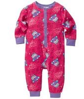 Free shipping girls giggle and hoot Christmas clothing onesie romper pajamas pyjamas sleepwear sleepsuit jumpsuit