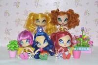 Genuine 5 pcs/set 11cm WINX CLUB MAGIC Bride bulk cartoon doll children birthday gift