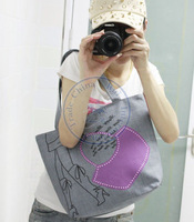 leg Printing cartoon Canvas duck big Handbags shoulder bag totes sling Lady girl's  mulit design CN post