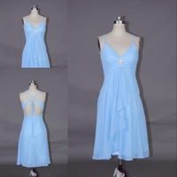 DMR047 Deamaker Spaghetti strap v neck sexy back short dresses bridesmaid 2014 hot hot sale
