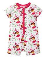 Free shipping girls Girls' Dora The Explorer Christmas Jumpsuit  Christmas clothing onesie romper pajamas pyjamas sleepwear