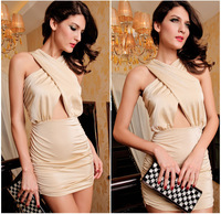 Hot sexy one-piece dresses fashion lady evening dress night club wear