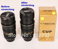 60Pcs/Lot,DHL EMS Free Shipping,For Nikon design 24-70mm gold ed, Zoomable stainless steel cup ,NICAN logo
