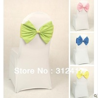 New Arrival elegant bowknot chair sash for wedding and banquet free shipping