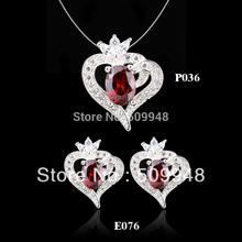 garnet jewelry set promotion
