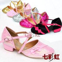 Child Latin dance shoes female child Latin shoes baby girl ballroom Laitn dance shoes