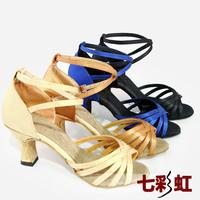 Adult women's Latin dance shoes female Latin dance ballroom dancing shoes Latin high-heeled shoes