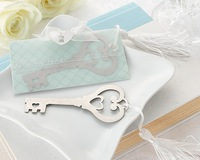 100PCS/LOT Key to My Heart Heart-Shaped Key Bookmark +wedding  favor baby shower gifts