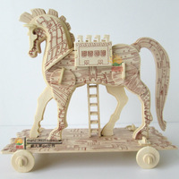 3d puzzle wool adult puzzle diy wooden puzzle animal model wood horse