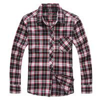 QP-445 Autumn plus size plus size male long-sleeve shirt men's clothing plaid shirt 6xl extra large