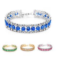 Neoglory Shining Dots on Wrist Elegant Fresh Style Zircon Czech Rhinestone Platinum Plated Bracelet for Lady Free Shipping