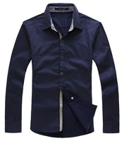 QP-234 2013 plus size men's long-sleeve shirt fashionable casual slim plus size plus size shirt male