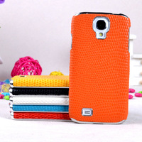 snake leather skin cover 10PCS/1lot wholesale luxury case for samsung i9500 galaxy s4 case cover accept mix-color order