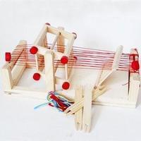Parent-child wooden toys toiletry kit child woven cloth machine
