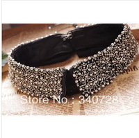 2013 Vintage Black Punk Full Rhinestone and Mental Colars Short Choker Necklace Collar for Women,Fashion Accessories