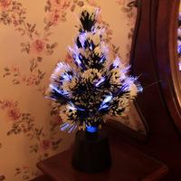 FREE SHIPPING!LED fiber optic Christmas tree,creative crystal Christmas tree,small night light,new strange Christmas decorations