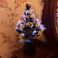 FREE SHIPPING!LED fiber optic Christmas tree,creative crystal Christmas tree,small night light,new strange Christmas decorations