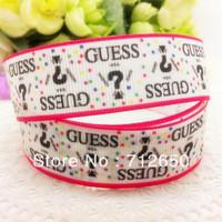 free shipping 7/8'' 22mm brand logo printed grosgrain ribbon EF013 Clothing accessory Bow Material Gift Wrap ribbon10 yards