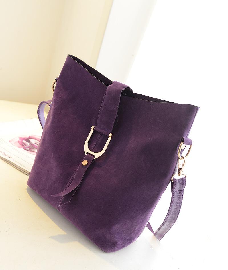 Hot-selling 2013 autumn fashion chamois nubuck leather women's handbag vintage bucket bag shoulder messenger big